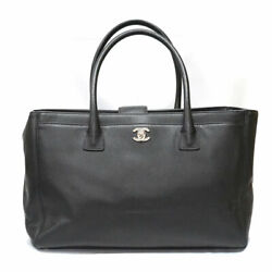 A15206 Executive Cc 2way Tote Shoulder Bag Leather Black Used