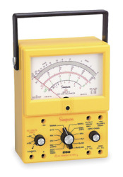 Simpson Electric 260-8xpi Vom, Protected, Yellow Analog Multimeter, Part Number