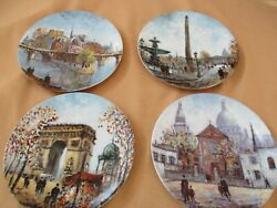 Limoges Louis Dali Set Of 4 Collector Plates Lmtd Edition Paris Free Shipping