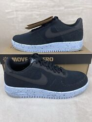 Nike Air Force 1 Crater Flyknit 'black Chambray Blue' Mens Sz 10 Dc4831 001