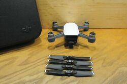 Excellent Condition White Dji Spark Drone Quadcopter Drone And Propellers Only