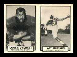 1962 Topps Cfl Panel 89 134 Gilchrist 135 Johnson Rc Exmt X2268155