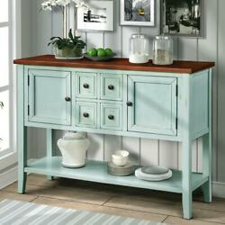 46 Wood Sideboard Buffet Table Cabinet Storage Console Home Display Living Room