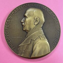 Medaille Bronze Marechal Philippe Petain 1942 Travail Famille Patrie Lot 163
