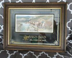 Vintage 1978 Anheuser-busch George Nathan Mule Team Mirror Sign 24x 18 Free Ship