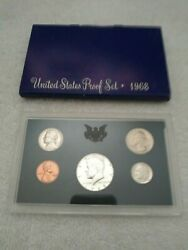 1968 Us Mint Proof Set W/40 Silver Kennedy Half Uncirculated