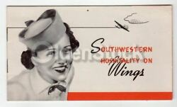 Braniff Airlines Southwestern Hospitality Vintage Graphic Advertising Booklet