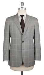 New Cesare Attolini Gray Wool Plaid Suit - 36/46 - Ca89173