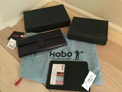 2 Hobo International Leather Wallets New w Tags Boxes amp; Dust Bag $55.00