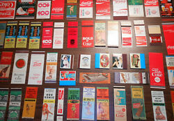 50+ Vintage Matchbook Covers Collection Coke Coca Cola And Others - Old