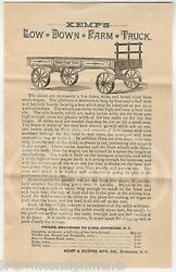 Kemp's Farm Truck Syracuse Ny Antique Agriculture Advertising Price List Lot