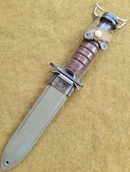 Wwii U.s.m 4 Camillus Bayonet Knife And Scabbard For M1 Carbine