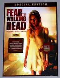 Fear The Walking Dead Season 1 Special 2-disc Dvd Edition New Cool 3-d Cover