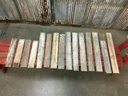 Reclaimed Wainscoting Bead Board Pieces, Architectural Salvage Vintage A9,