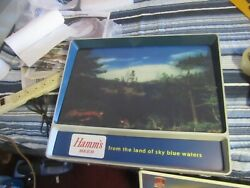 Hamms Beer Sign Light Up Lake Canoe From The Land Of Sky Blue Waters Vtg Motion