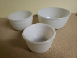 Vintage1940's General Electric Mixer Bowls Only