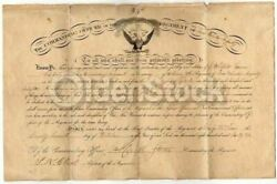 Civil War Iowa 25th Volunteer Infantry Camp Kean Signed Appointment Certificate