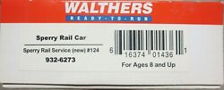 Walthers Sperry Rail Car 124 932-6273