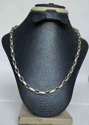 Old Men Chain Necklace Real Solid 925 Sterling Silver 41 Gr New Style Link 25.5