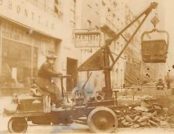 Early Excavator Construction Machinery Detroit Michigan Antique Occupational Pho