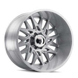 24x14 Wheels 4 Rims Dna At184american Truxx Brushed -76mm 5x127