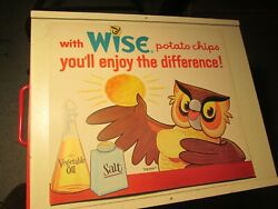 Vintage Wise Potato Chips Cardboard Advertisement Sign Enjoy The Difference