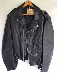 Vintage Perfecto By Schott One Star Double Riders Black Leather Jacket Size 40