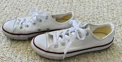 Converse All Star Low Top Sneaker Shoes White Kids Youth Size 13 Boys Girls