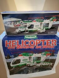 Hess Truck 2001 Helicopter With Motorcycle/cruiser Nib W/hess Bag Free Shippingandnbsp