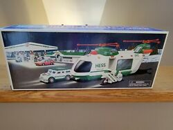 Hess Truck 2001 Helicopter W/ Motorcycle And Cruiser Nib Free Shipping.andnbspandnbsp