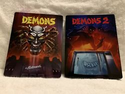 Demons 1and2 Steelbooks Blu-ray/dvd 2-disc Sets Oop Synapse Complete