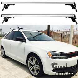 48 Car Roof Rack Cross Rail Bar Luggage Bicycle Boat Carrier For Vw Mk6 Jetta