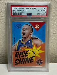 2012 Panini Past And Present Rise And039n Shine Stephen Curry 81 Psa 10 Gem Mint