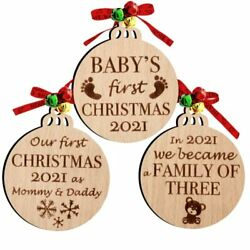 Set Of 3 Babys First Christmas Ornament 2021   My First Babyand039s First Christmas