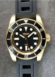 Armida A8 Vintage Brass Dive Watch Black No Date Shipped From Usa