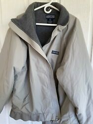 Lands End Mens Heavy Coat. Big And Tall Size 50-52 With Polartec Lining