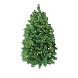 Northlight 36 Green And Clear Pre-lit Pine Artificial Christmas Column Swag -