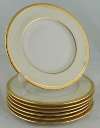 Lenox Bellaire Ivory China Encrusted Gold Rim Bread/butter Plate Set 7
