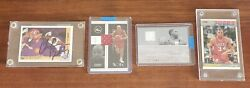 Charles Barkley Auto Game Used High End 4 Card Lot