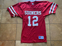 Vintage 90andrsquos Oklahoma Sooners Team Issue Russell Athletic 12 Football Jersey