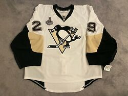 Marc-andre Fleury Penguins Stanley Cup Authentic Hockey Road Game Jersey 58g