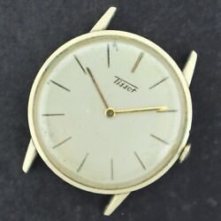 Vintage Tissot 17 Jewel Menand039s Manual Wind Wristwatch 25.9 Gold Filled For Repair