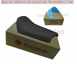 Genuine Royal Enfield Continental Gt 650 535 - Single Rider Seat And Cowl Blue