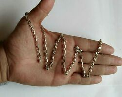 Old Men Chain Necklace Real Solid 925 Sterling Silver 23 Gr Paperclip Link 24