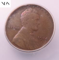 1914-d Lincoln Wheat Penny Cent - Icg Vf20 - Key Date
