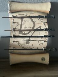 Harry Potter Collectible Wands Lot Of 10 And Display