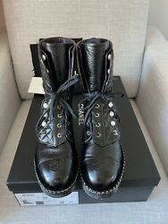 Authentic -sold Out- 18k Pearl Combat Boots Size 38