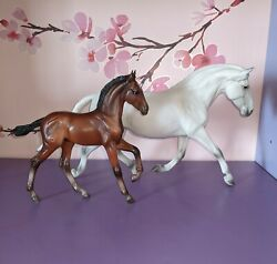 Breyer Traditional Andalusian mare and foal