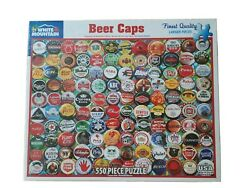 White Mountain Beer Bottle Caps 550 Piece Puzzle Larger Pieces New In Box 2018