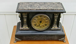Antique Seth Thomas Adamantine Mantle Mantel Clock Made In 1800and039s